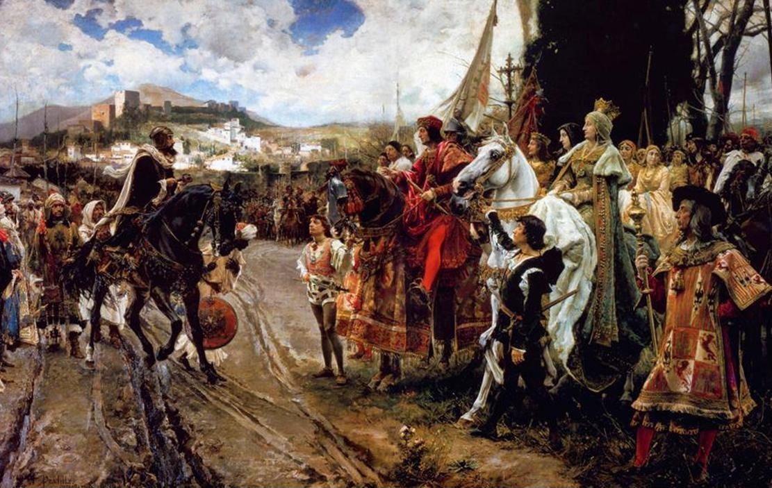 Фото 6. historiadegalicia.gal Сдача Гранады их испанским величествам Изабелле и Фердинанду. Франсиско Прадилья 1882..jpg