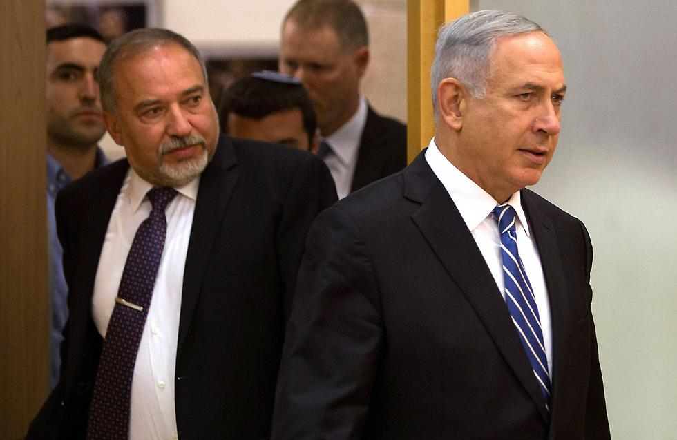 Нетаниягу и Либерман. Фото: AFP