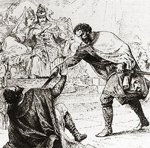 Дмитрий Грозные Очи убил Юрия Даниловича прямо на глазах у монголов.